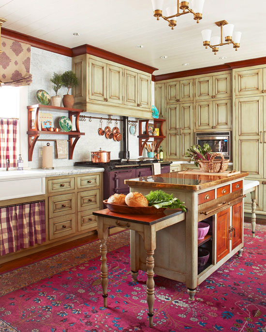 Cozy Kitchen with Warm Colors  Traditional Home