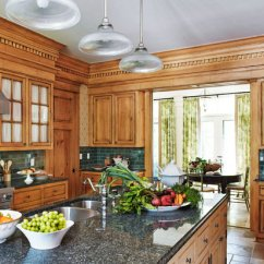 Kitchen Wood Cabinets Chairs With Wheels Elegant Kitchens Warm Traditional Home Tall Honey Detailing