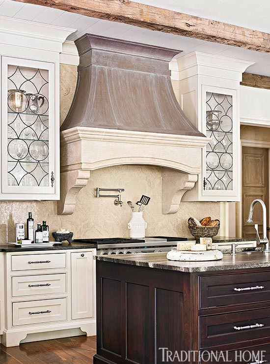 Distinctive Kitchen Cabinets With Glass Front Doors Traditional Home