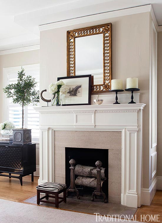 living room mantel decor interior design for pictures get the look classic mantels traditional home enlarge