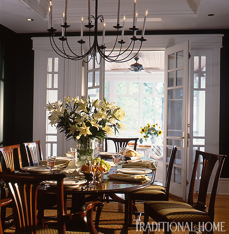 ikea casual chairs overstuffed with ottomans 25 years of beautiful dining rooms | traditional home