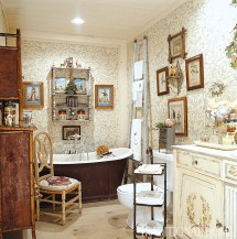 Charles Faudree Country French Bathroom