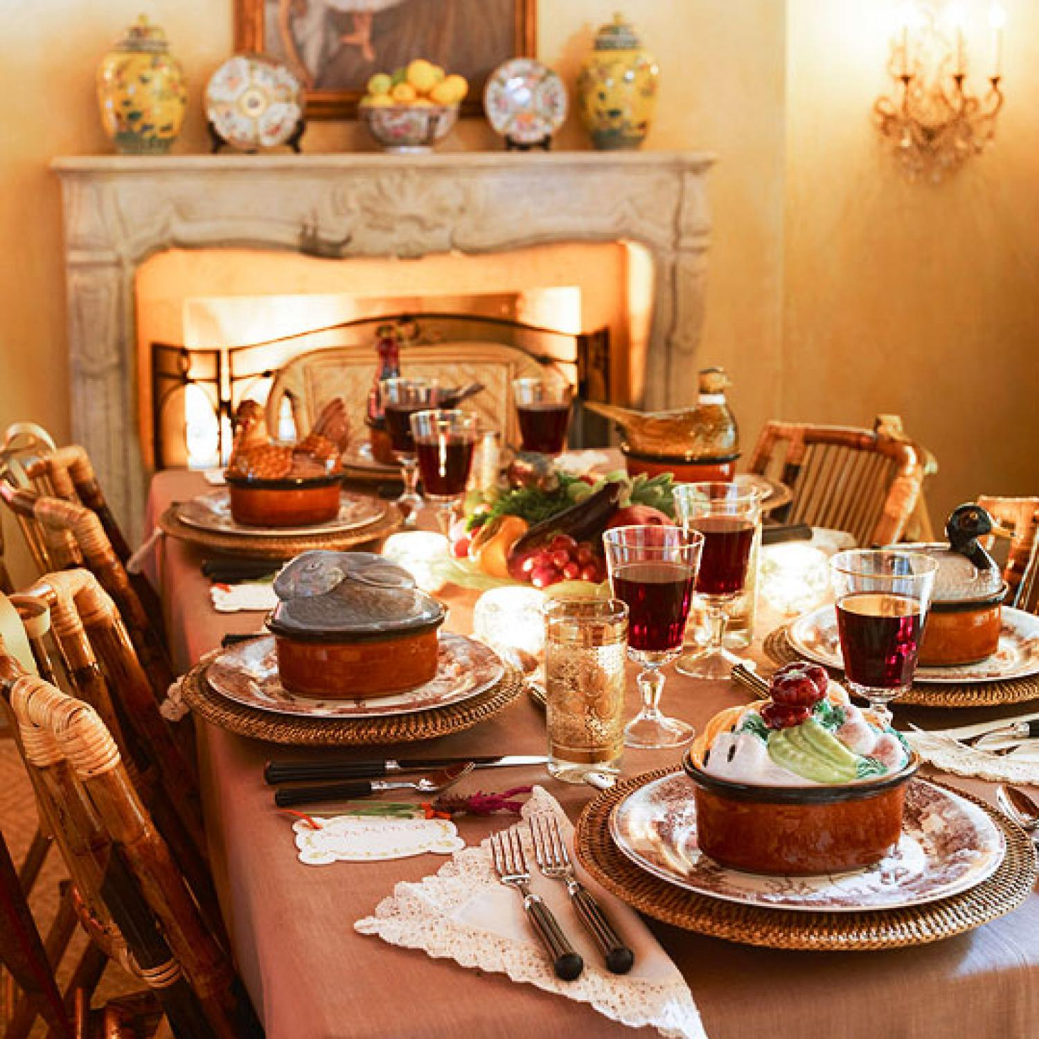 Entertaining Autumn Party Traditional Home