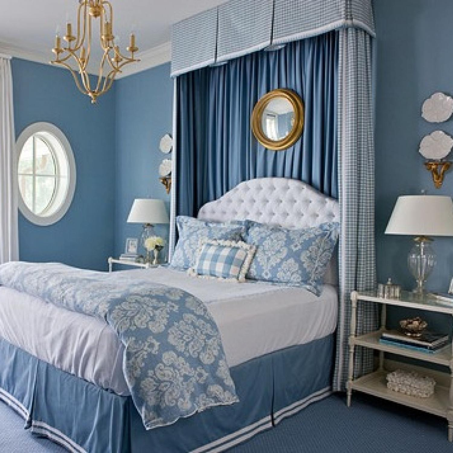 blue interior bedroom designs Beautiful Blue Bedrooms | Traditional Home