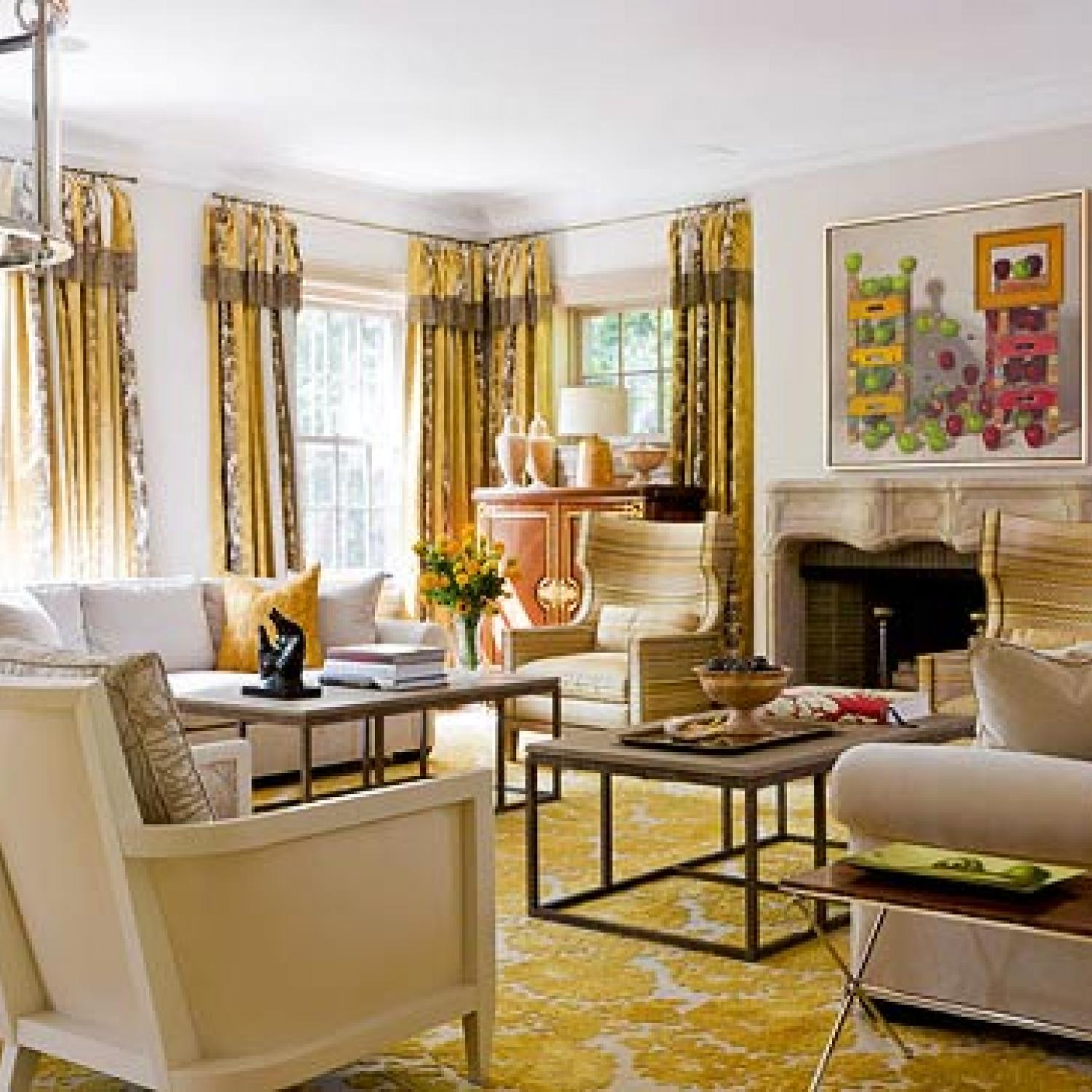 colorful living rooms traditional