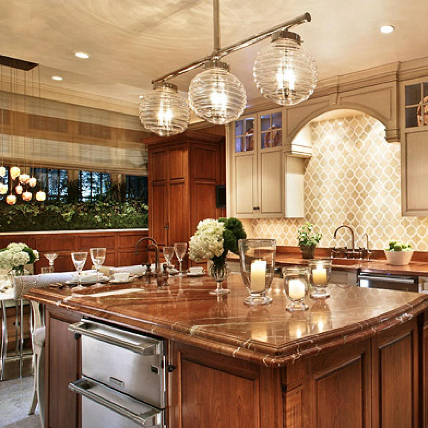 Stylish Islands Traditional Kitchens Home