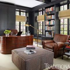 What Colour Walls With Brown Leather Sofa Queen Bed Canada Handsome Rooms A Masculine Vibe   Traditional Home
