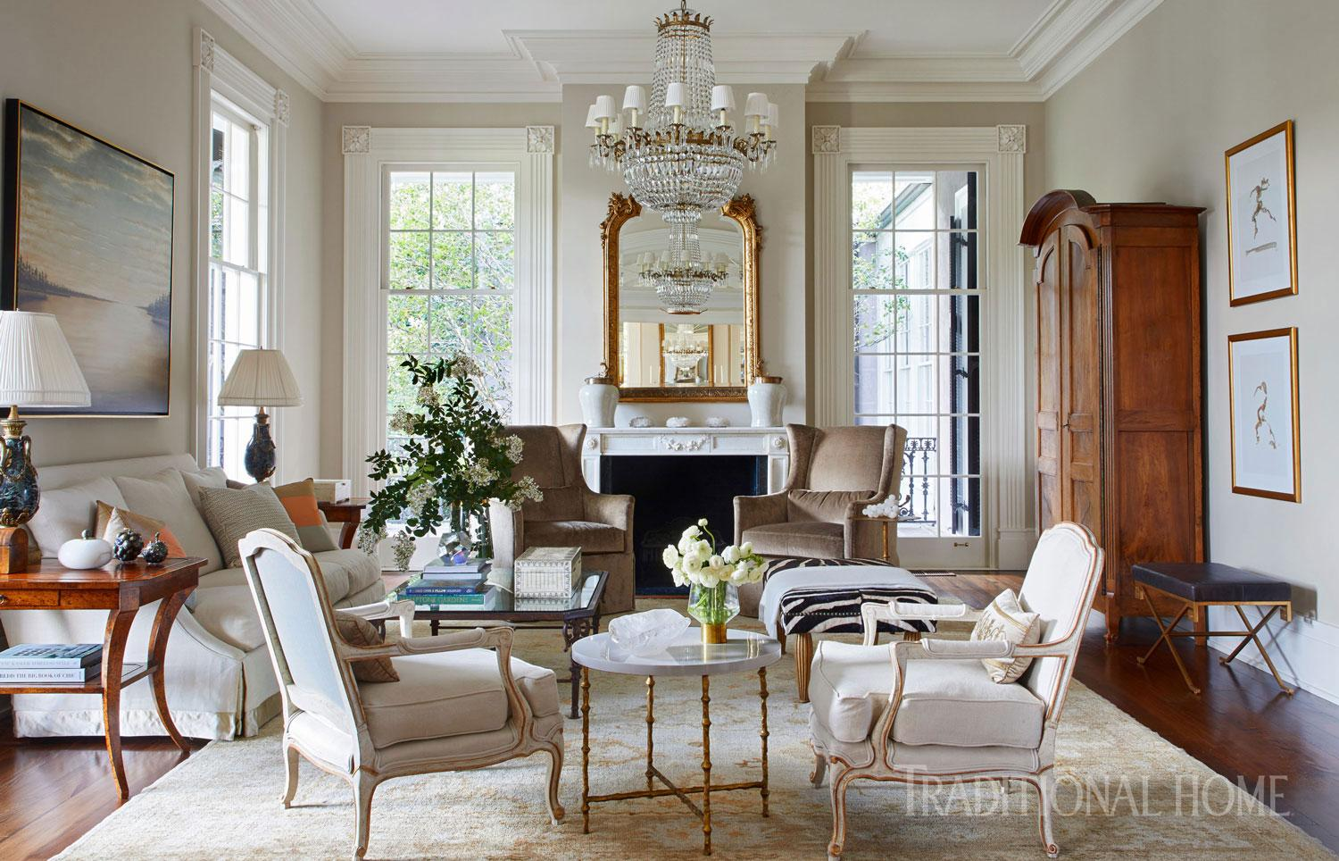 Stylishly Southern Mississippi Home Traditional