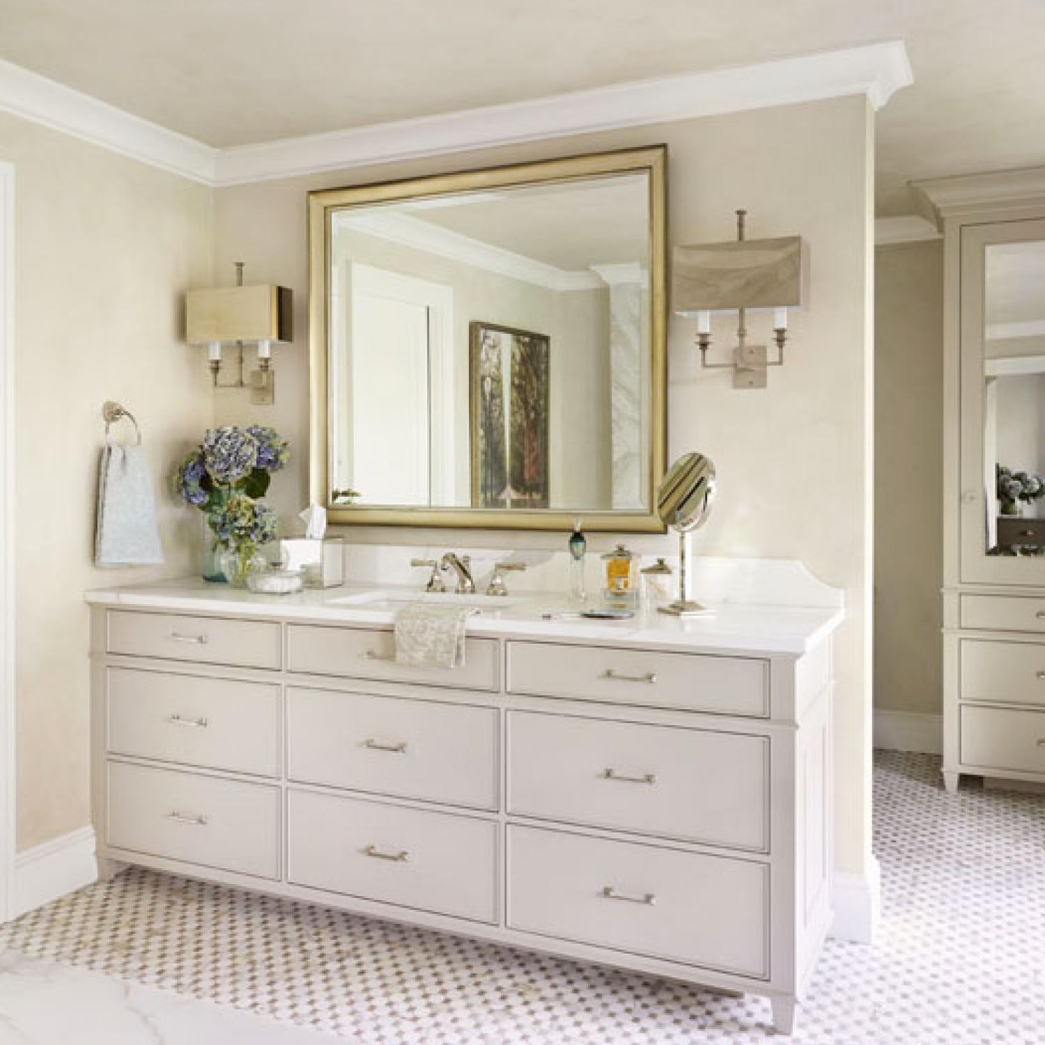 White Bathroom Vanity Ideas Decorating Bath Vanities Traditional Home