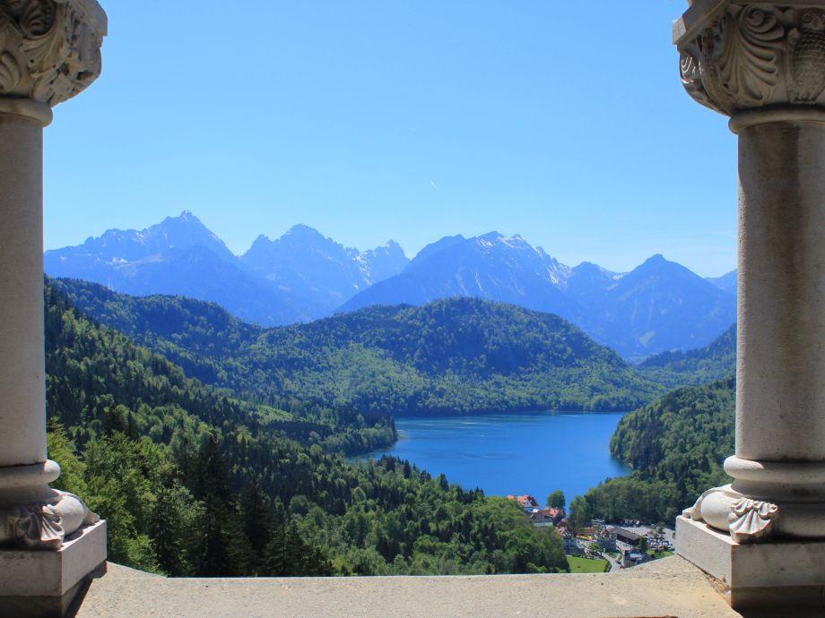 Ferienwohnung Birkeneck mit Schlossblick Bayern Neuschwanstein Alpen  Firma Alpenland