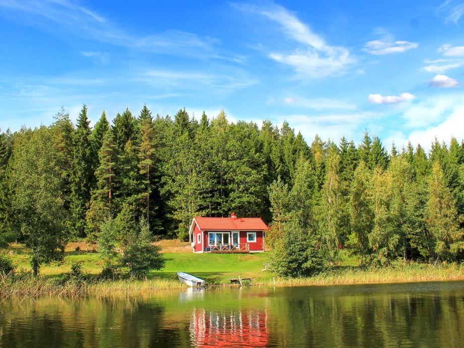 Ferienhaus direkt am See Bunn in Alleinlage Schweden Sdschweden Smland Jnkping Grnna