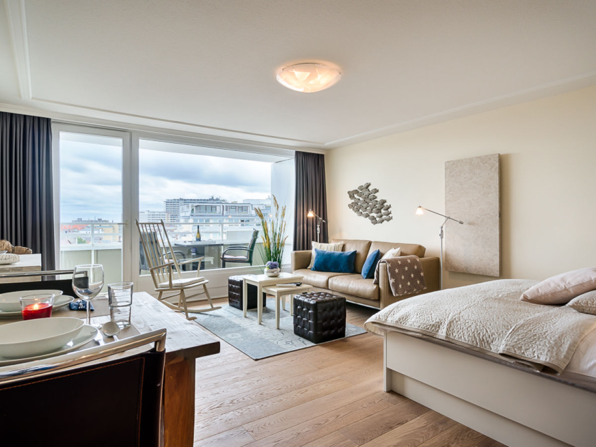 Apartment PenthouseSuite Skyline mit PanoramaMeerblick