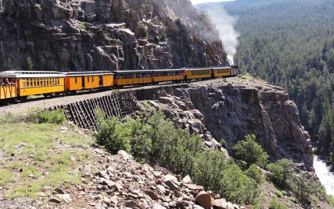 Rest from Hiking on the Durango and Silverton train