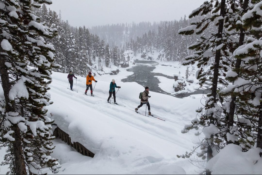 cross-country skiing Yellowstone National Park