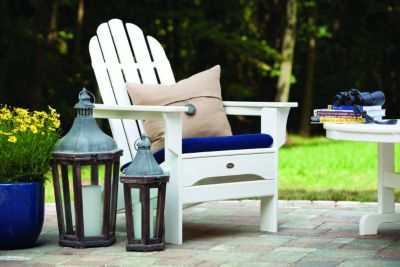 diy adirondack chair trex used covers for sale deck furniture pergolas and outdoor kitchens shop patio like this white