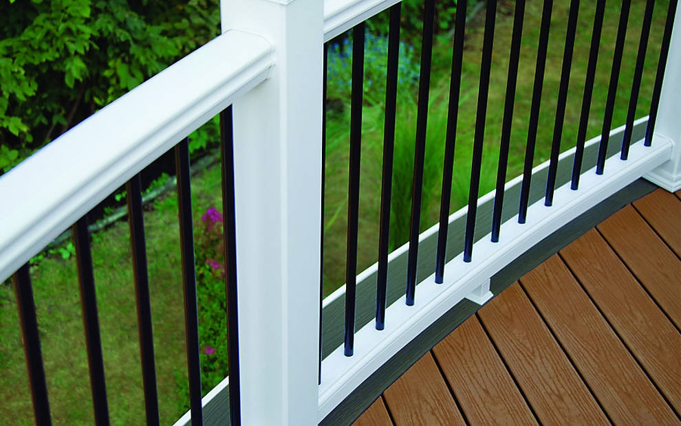 Trex Post Components Outdoor Stairs Railing For Any Patio Trex | Trex Enhance Stair Railing | Composite Decking | Trex Transcend | Lighting | Installation Instructions | Vintage Lantern