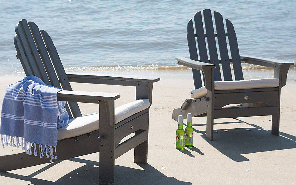 outdoor beach chairs double wide chair coastal deck design ideas photos trex