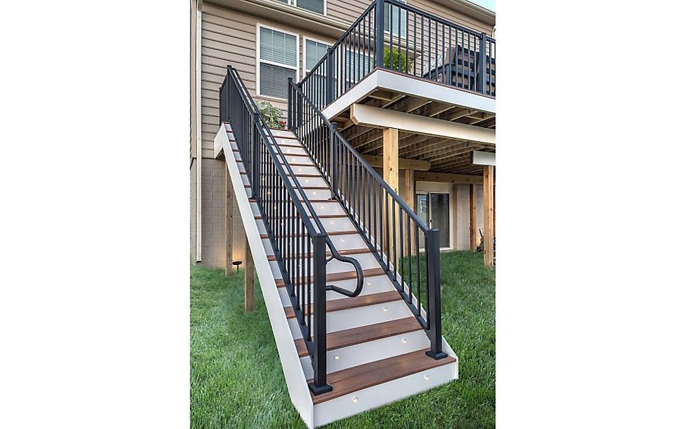 Ada Handrail Systems For Decks Trex | Ada Compliant Exterior Handrails | Stainless Steel | Deck Railing | Extension | Vinyl | Hand Rail