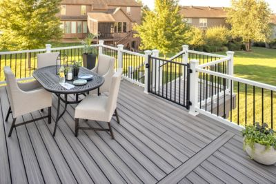 how to install a deck gate trex