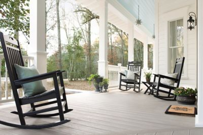 Trex Rocking Chairs Trex Transcend Decking Gravel Path Porch Rocking Chair Trex