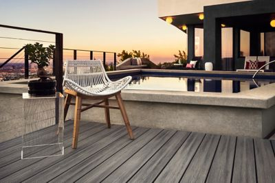 Trex Transcend Decking Island Mist Sunset Pool