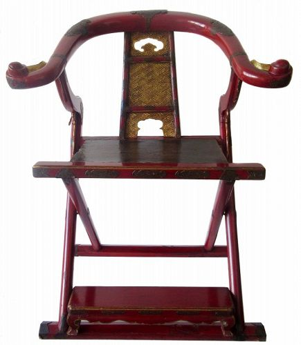 edo posture chair knoll life replacement parts japanese other religious from the zentner collection antique buddhist abbott s folding