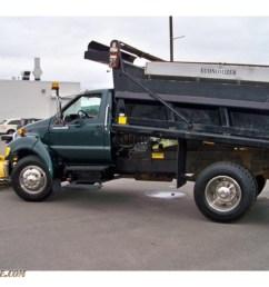 2007 f650 super duty xlt regular cab dump truck forest green metallic medium dark [ 1024 x 768 Pixel ]