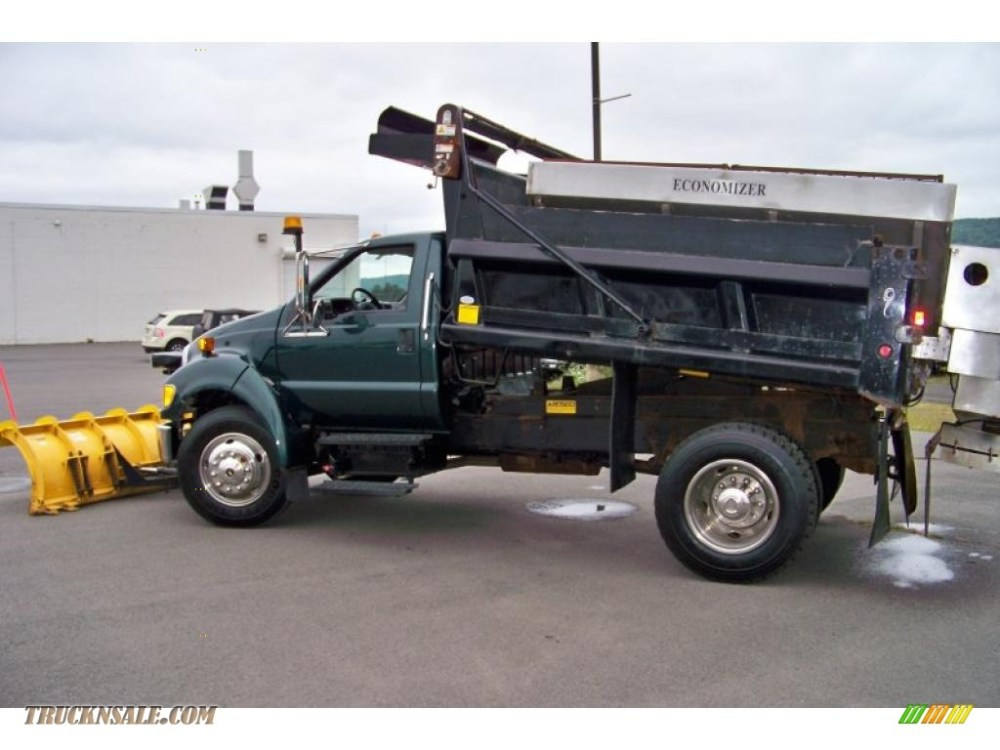 medium resolution of 2007 f650 super duty xlt regular cab dump truck forest green metallic medium dark