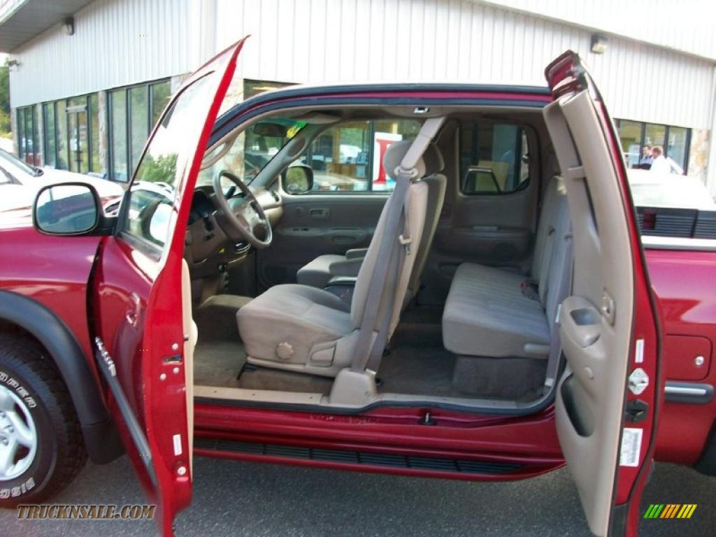 hight resolution of 2000 tundra sr5 extended cab 4x4 sunfire red pearl oak photo 8