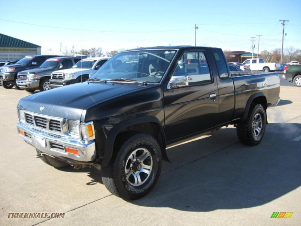 medium resolution of 1997 hardbody truck se extended cab 4x4 super black dark gray photo 3