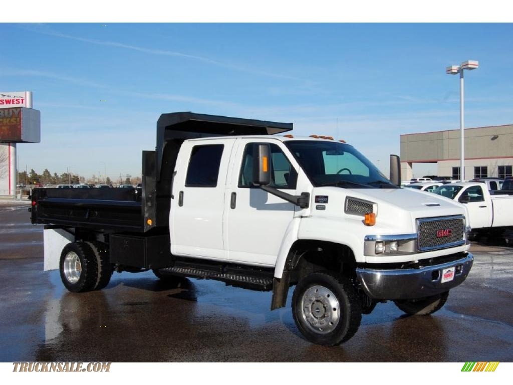hight resolution of summit white pewter gmc c series topkick c5500 crew cab 4x4 dump truck wiring diagram