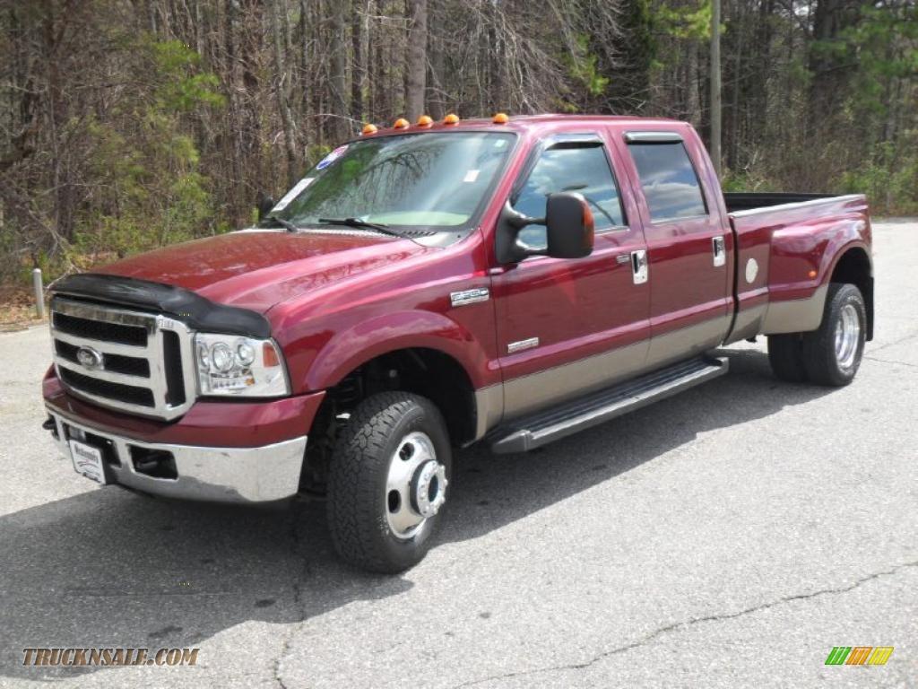 hight resolution of 2006 f350 super duty lariat crew cab 4x4 dually dark toreador red metallic tan