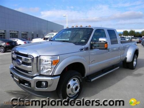 small resolution of 2012 f350 super duty lariat crew cab 4x4 dually ingot silver metallic black photo