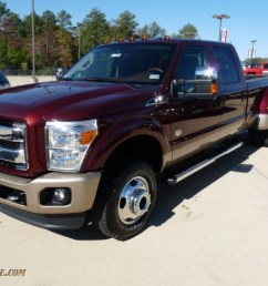 2012 f350 super duty king ranch crew cab 4x4 dually autumn red chaparral leather [ 1024 x 768 Pixel ]
