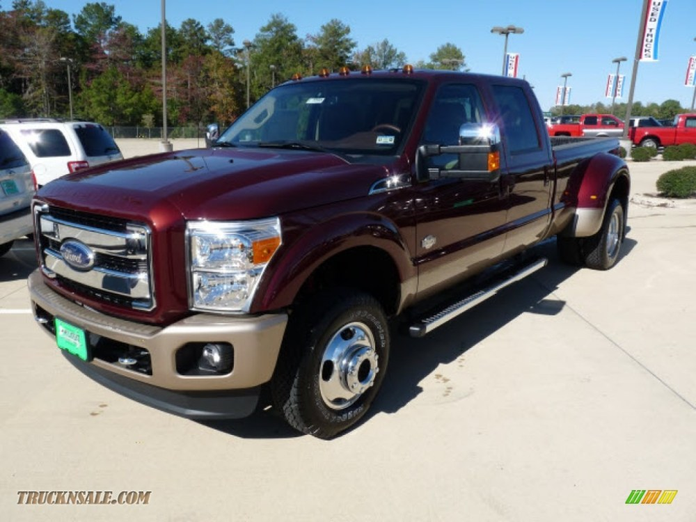 medium resolution of 2012 f350 super duty king ranch crew cab 4x4 dually autumn red chaparral leather