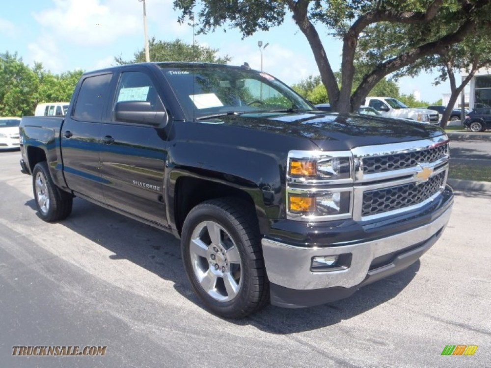 medium resolution of 2014 chevrolet silverado 1500 lt crew cab in black 131593