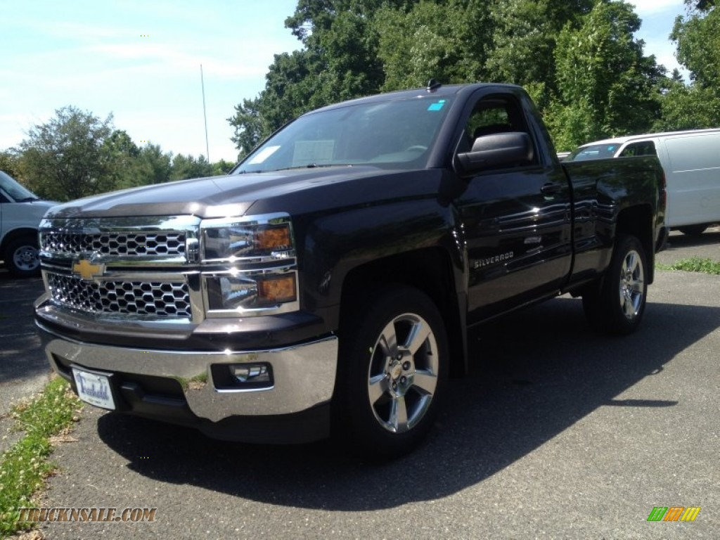 hight resolution of tungsten metallic jet black dark ash chevrolet silverado 1500 lt regular cab