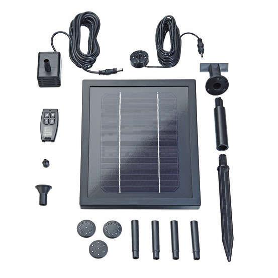 set fontaine solaire telecommandee pontec 250 l h