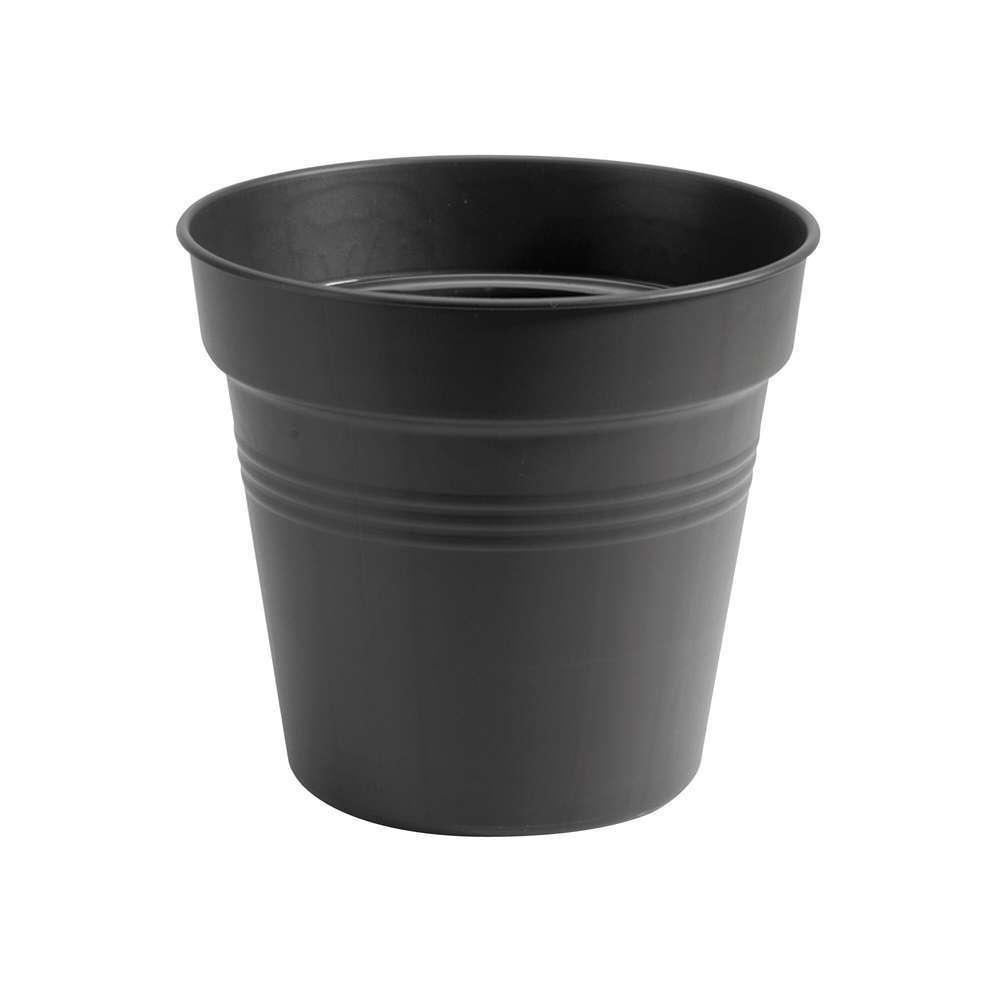 pot provence en plastique noir o 27 cm
