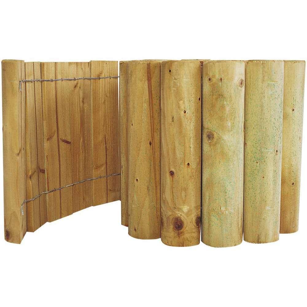 bordure rouleau eco en bois l 200 x h 30 cm