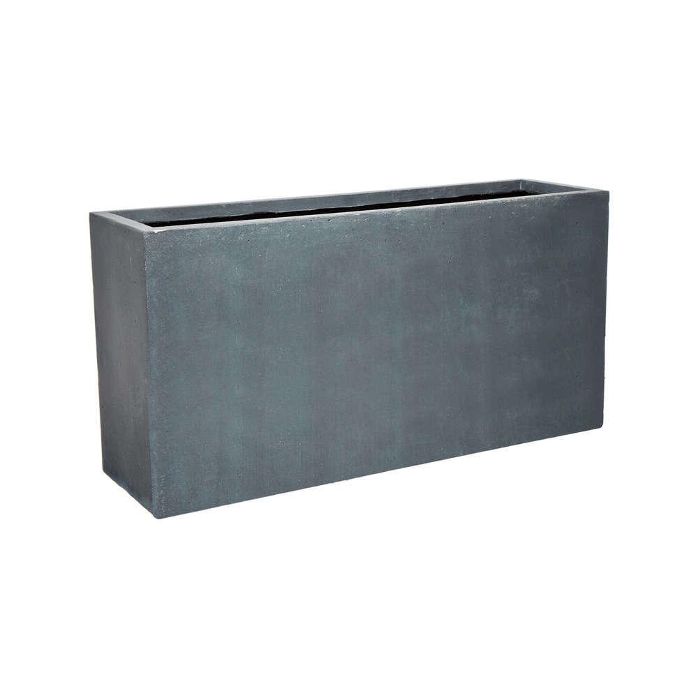 bac rectangulaire urban gris l 80 x l 23 x h 40 cm