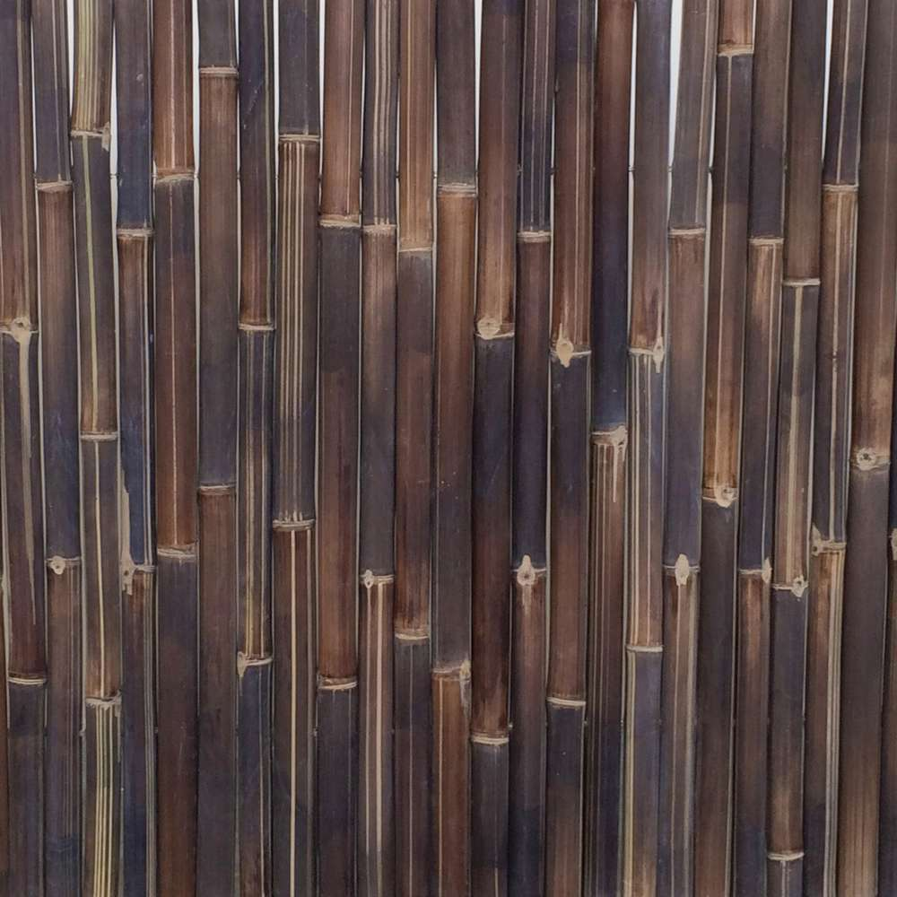 panneau deroulable en bambou naturel fonce l 200 x h 100 cm