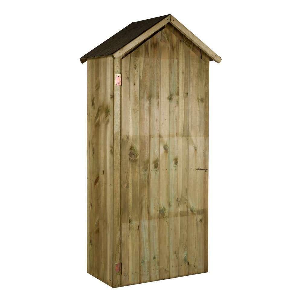 armoire en bois 1 porte naturelle 90x51x210 cm