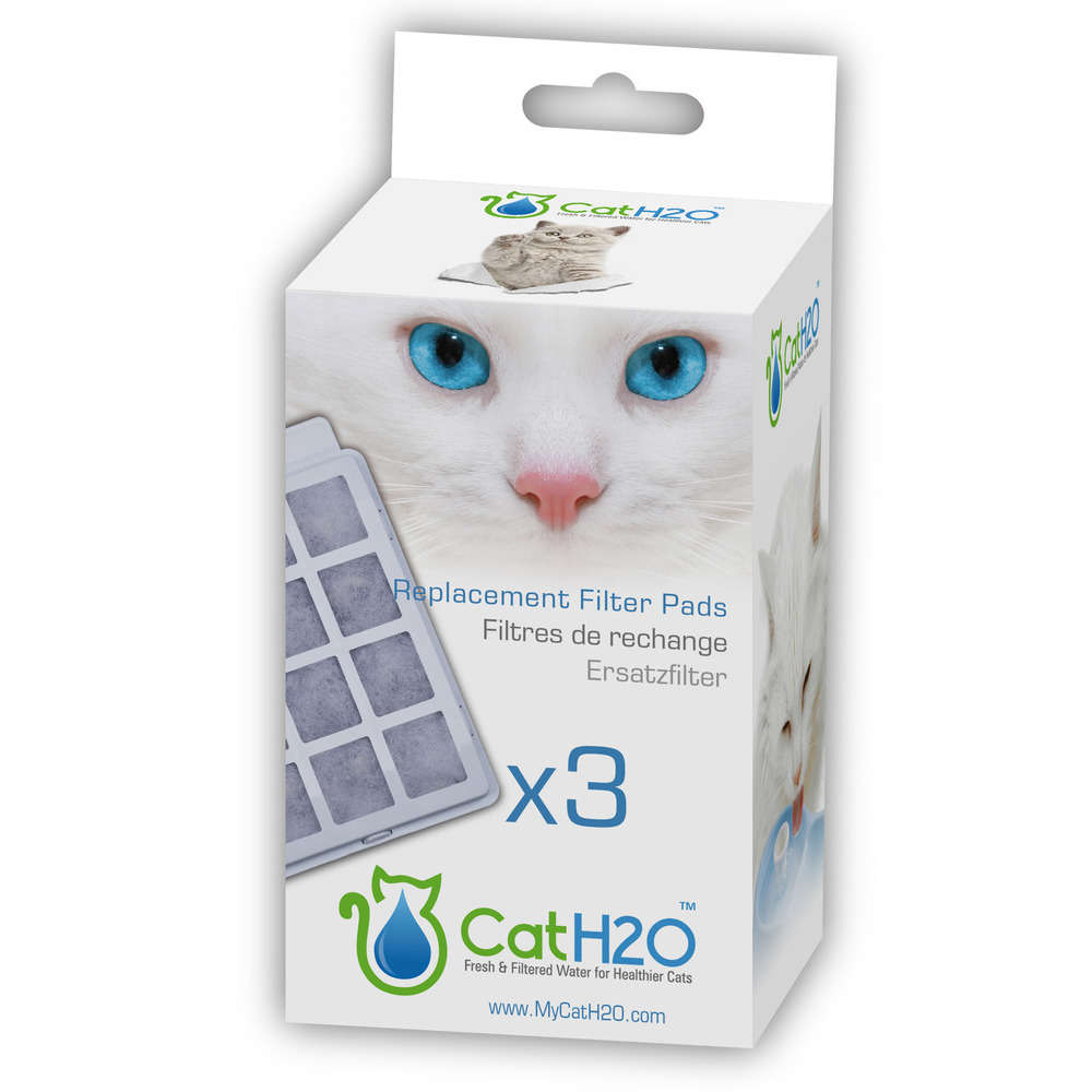 filtres de rechange pour fontaine a eau h20 pour chat par 3