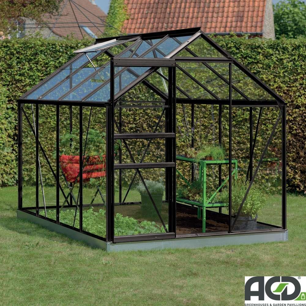 serre de jardin en verre securit own grow ivy noir 5 m