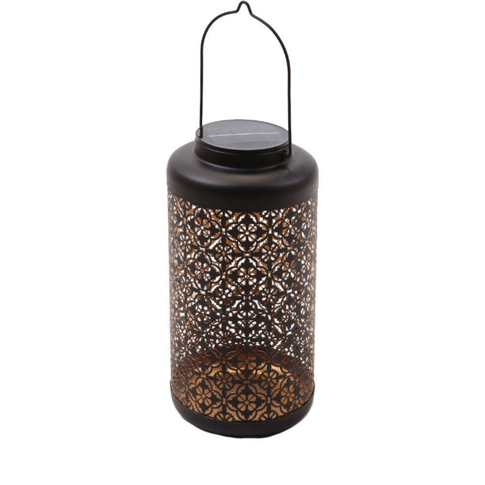 andaluz lanterne metal avec 22 mini led hauteur 31cm