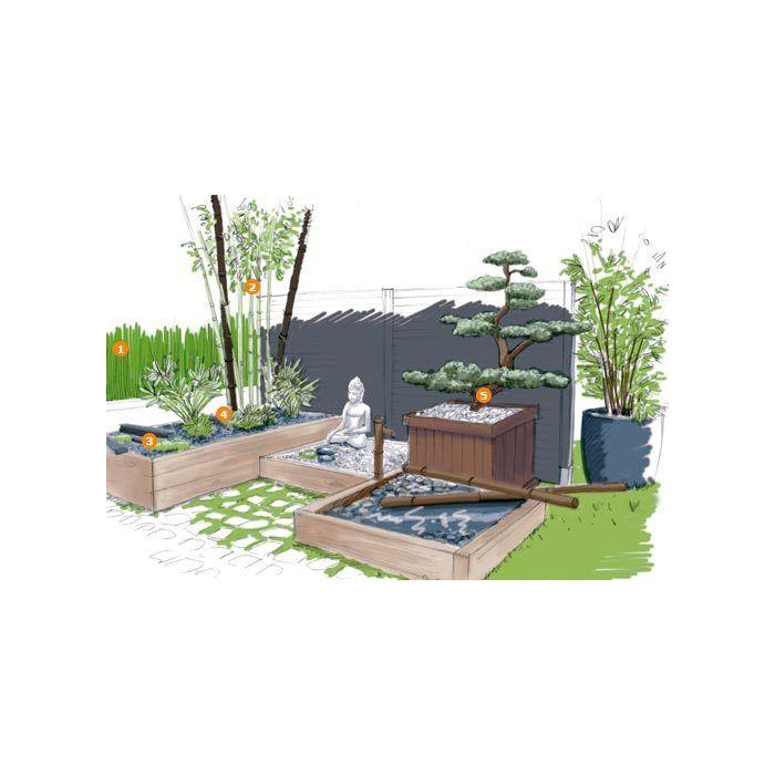 zen je cree un jardin japonais