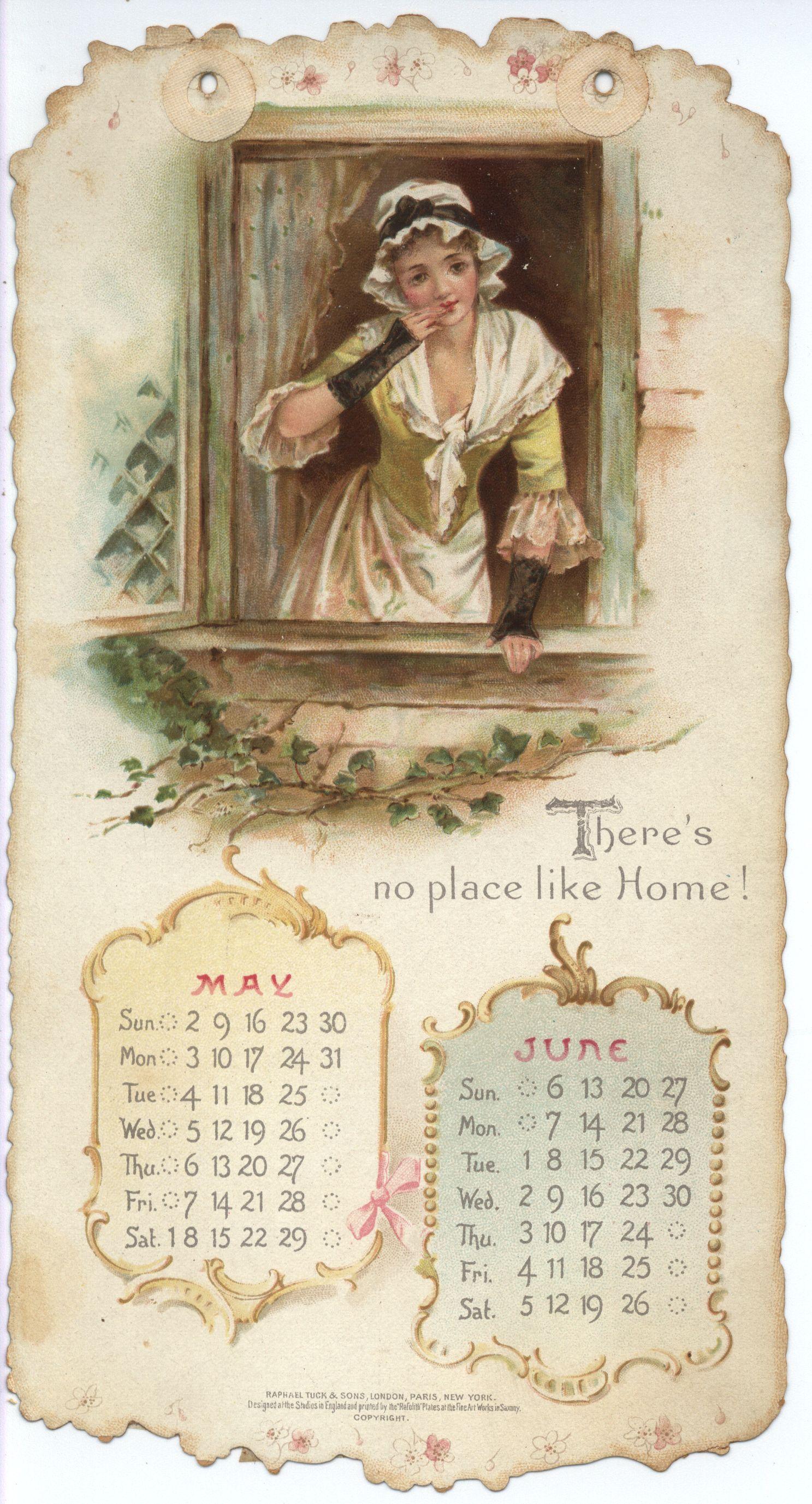 Home Sweet Home Calendar For 1897 Tuckdb Ephemera