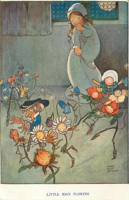 LITTLE IDAS FLOWERS TuckDB Postcards