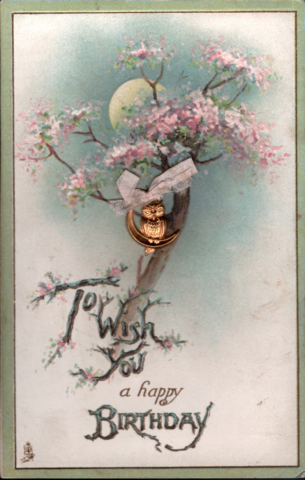 TO WISH YOU A HAPPY BIRTHDAY Blossom Tree Half Moon